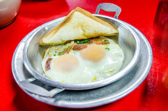 Indochina omelet (pan-fried egg) Stock Photos