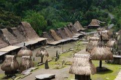 Indonésia, Flores, vila de Bena Fotografia de Stock