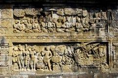 Indonésia, Java central. O templo de Borobudur Fotografia de Stock Royalty Free