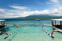 Indonésia, Lombok. Consoles de Gili imagem de stock