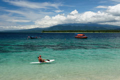 Indonésia, Lombok. Consoles de Gili imagens de stock royalty free