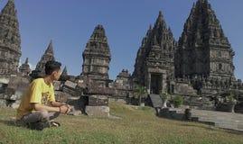 Indonésien de † d'☠de temple de Prambanan images stock