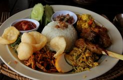 Indonésien Rijst Tafel Image libre de droits