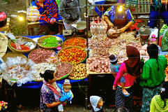 Indonesian fruit and vegetable market Stock Image