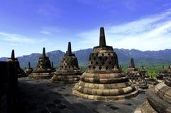 Indonesië, Centraal Java. De tempel van Borobudur Stock Afbeelding