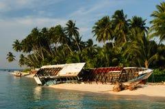Indonesië, Derawan eiland, het Oosten Kalimantan stock foto's