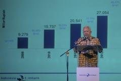 INDONESIË EXIMBANK OM BANDEN OP TE HEFFEN Stock Foto