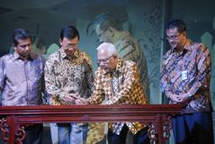 INDONESIË EXIMBANK OM BANDEN OP TE HEFFEN Stock Fotografie