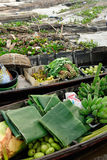 Indonesië - het drijven markt in Banjarmasin royalty-vrije stock afbeeldingen