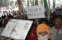 INDONESIË OM RENTEVOET TE SNIJDEN stock afbeeldingen