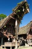 Indonesië, Tana Toraja, Traditioneel dorp stock foto's