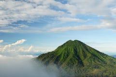Indonesië, vulkaan Raung Royalty-vrije Stock Foto's