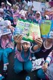 INDONESIË WENST MEER GEKWALIFICEERDE LERAAR Royalty-vrije Stock Fotografie