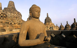Indonesië, Java, Borobudur: Tempel Royalty-vrije Stock Afbeelding