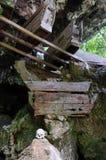 Indonesië, Sulawesi, Tana Toraja, Oud graf Stock Afbeelding
