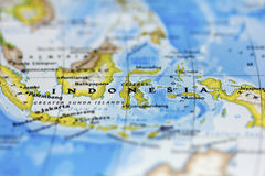 Indonesia. View of Indonesia on the map royalty free stock photo