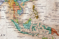 Indonesia. Map of malaysia philippines and other indonesian countries stock images