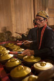 Indonesia - 6-5-2012: Javanese musicians  Stock Photo