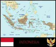 Indonesia Administrative divisions Stock Image