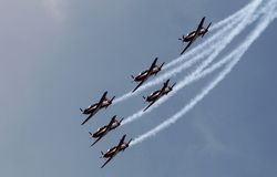 Indonesia Aerobatic Team Jupiter Stock Photo