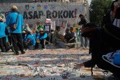 INDONESIA ANTI SMOKING CAMPAIGN Stock Image