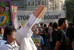 INDONESIA ANTI SMOKING CAMPAIGN Royalty Free Stock Image