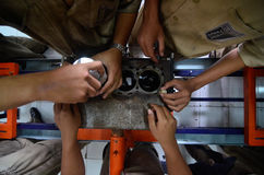 INDONESIA AUTOMOBILE MANUFACTURE STUDENTS Royalty Free Stock Photography