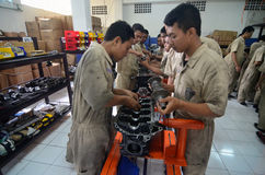 INDONESIA AUTOMOBILE MANUFACTURE STUDENTS Royalty Free Stock Images