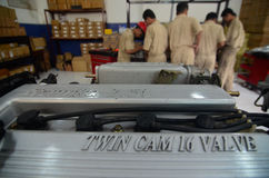 INDONESIA AUTOMOBILE MANUFACTURE STUDENTS Stock Photo
