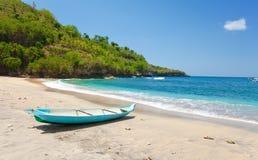 Indonesia. Bali. boat on an ocean coast stock image