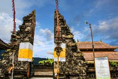 Indonesia Bali Island Pura Ulun Danu Bratan Gate stock photos