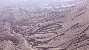 Take Off on the Slope of the Volcano. Aerial View stock footage