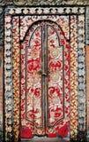 Indonesia, bali: puerta adornada Fotos de archivo