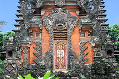 Indonesia, Bali: Temple. Indonesia, Bali: an ancient temple with a typical nice door stock photography