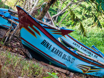 Indonesia boat. I took this photo on the beach peh pulo blitar indonesia Royalty Free Stock Photos