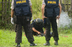 INDONESIA BOMB SQUAD Stock Photos