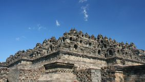 Indonesia- Borobudur temple. Indonesia- ancient Buddhist temple ruins Royalty Free Stock Photo