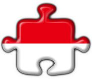 Indonesia button flag puzzle shape Royalty Free Stock Photos