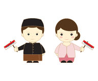 Indonesia cartoon asean. Cute vector illustration