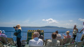 INDONESIA, Circa 2014 - Time Lapse on a ferry on the way to the Island of Bali stock video