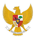 Indonesia coat of arms Stock Photo