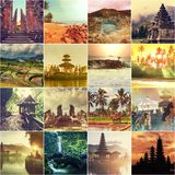 Indonesia collage Stock Images