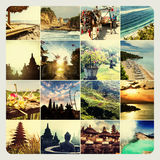 Indonesia collage Royalty Free Stock Photos