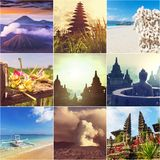 Indonesia collage Stock Photography