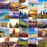 Indonesia collage Stock Photos