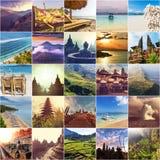 Indonesia collage Stock Photos