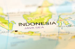 Indonesia country on map Royalty Free Stock Photography