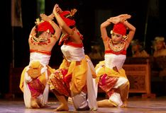 INDONESIA CREATIVE JOBS. Balinese dance performance at Solo, Java, Indonesia. Indonesian business communities urged the government to immediately impose Royalty Free Stock Photo