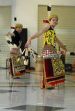 INDONESIA CREATIVE JOBS. Borneo Dayak dancers perform at Solo, Java, Indonesia. Indonesian business communities urged the government to immediately impose Royalty Free Stock Photos