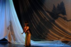 INDONESIA CREATIVE JOBS. Javanese Macbeth dance performance at Solo, Java, Indonesia. Indonesian business communities urged the government to immediately impose Royalty Free Stock Photos